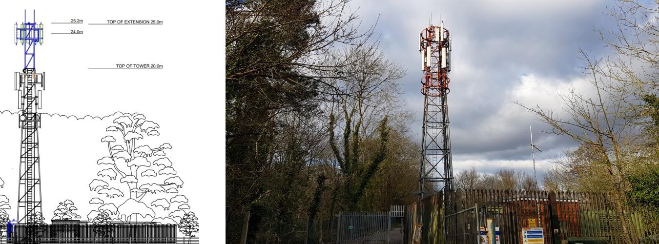 oakley green new phone mast 25m