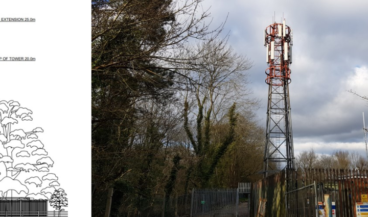 oakley green new phone mast 25m