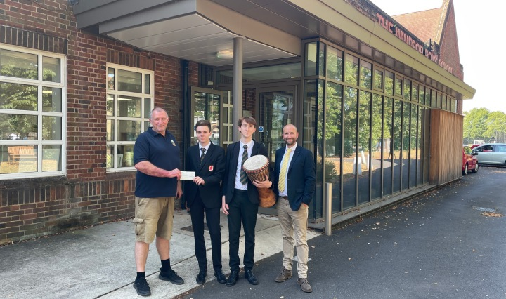 jon davey windsor and eton rotary youth chair funding drums