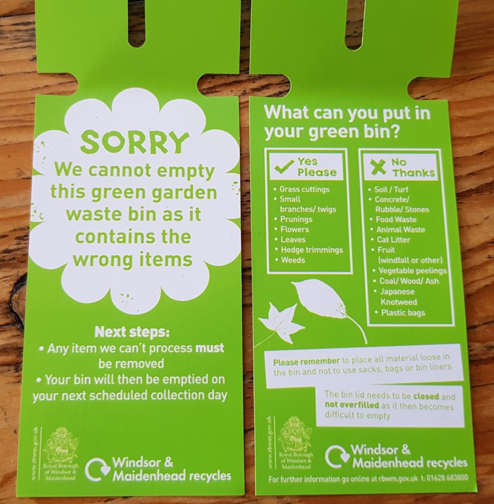 what to put in your RBWM green bin