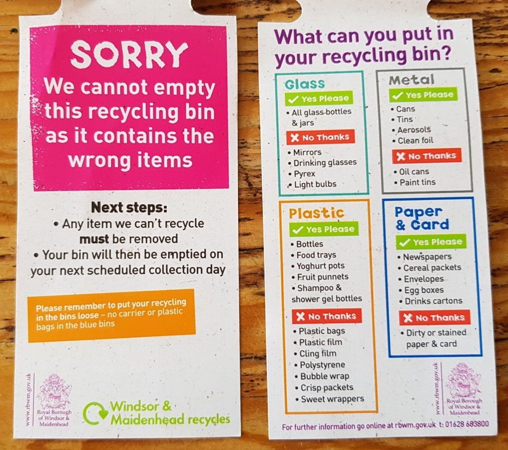what to put in your RBWM recycling bin