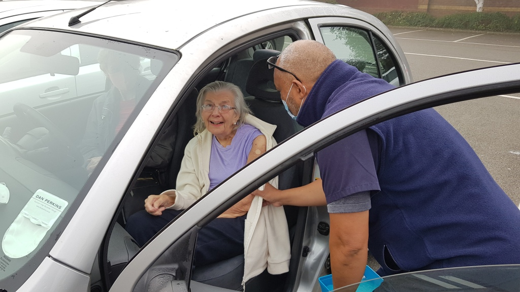 covid brian helping older residents