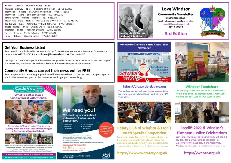 Love Windsor Community Newsletter 3rd Edition